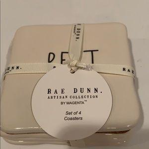 Rae Dunn set of 4 coasters